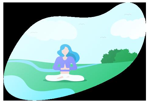 Personne faisant du yoga